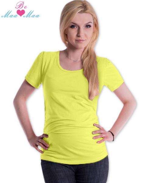 Be MaaMaa Triko JOLY bavlna nejen pro těhotné - žluté