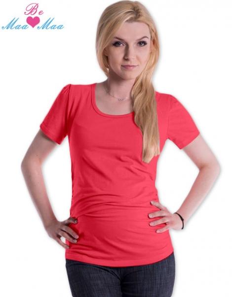 Triko JOLY bavlna nejen pro těhotné - korálové