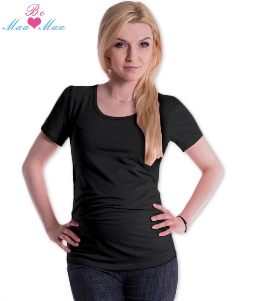 Be MaaMaa Triko JOLY bavlna nejen pro těhotné - černé , vel. L/XL