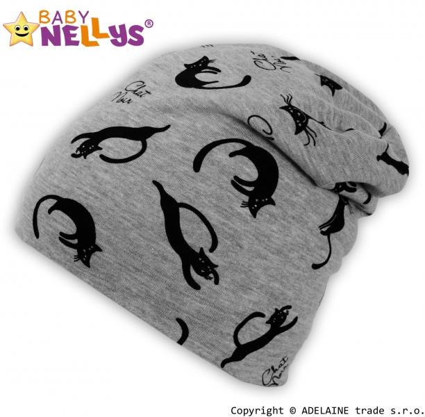 Bavlněná čepička Baby Nellys ® - Kočičky, Velikost: 0-1rok