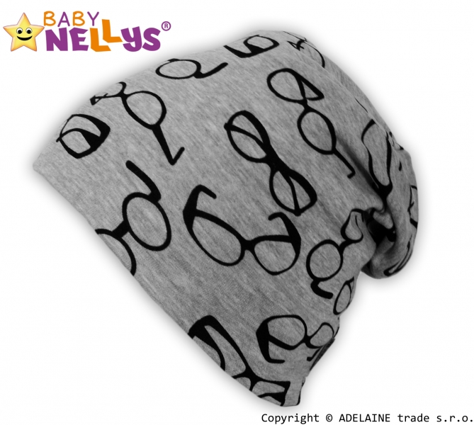 Bavlněná čepička Baby Nellys ® - Brýle, Velikost: 3-10let