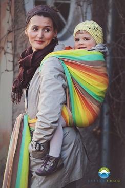 Little FROG Tkaný šátek na nošení dětí - Sunny Labradorite
