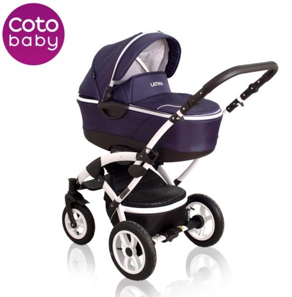 Kočárek LATINA 2017 Coto Baby 2v1 - dark blue
