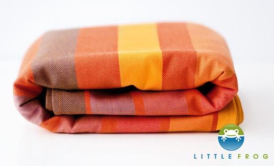 Little FROG Tkaný šátek na nošení dětí - Rhodonite