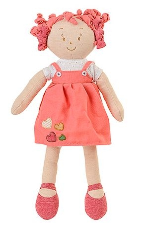 Látková panenka EKO Lily Baby Ono - růžová