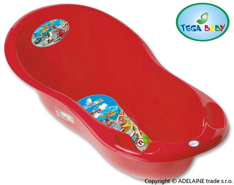 Vanička Tega Baby - AUTA 86 cm - malá, červená