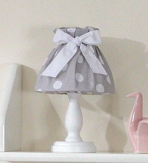 Noční lampička - retro šedé