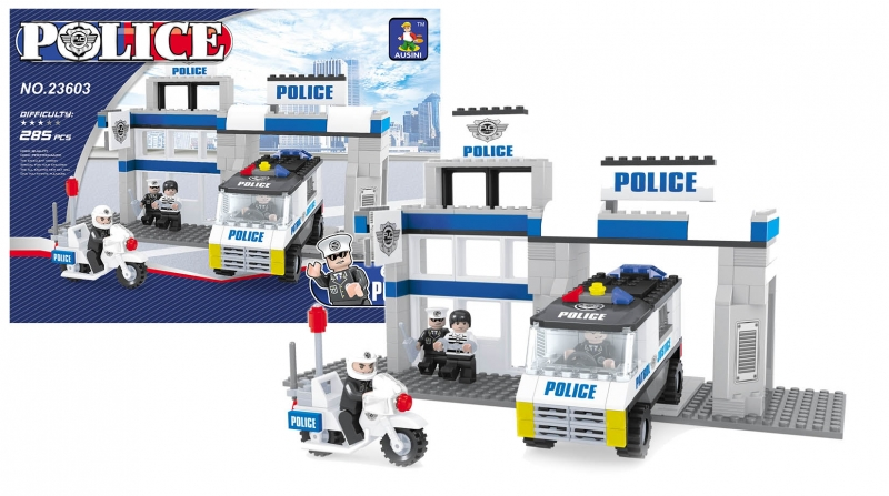 Stavebnice AUSINI policejní stanice, 286 dílů (Stavebnice policejní stanice, 286 dílů)