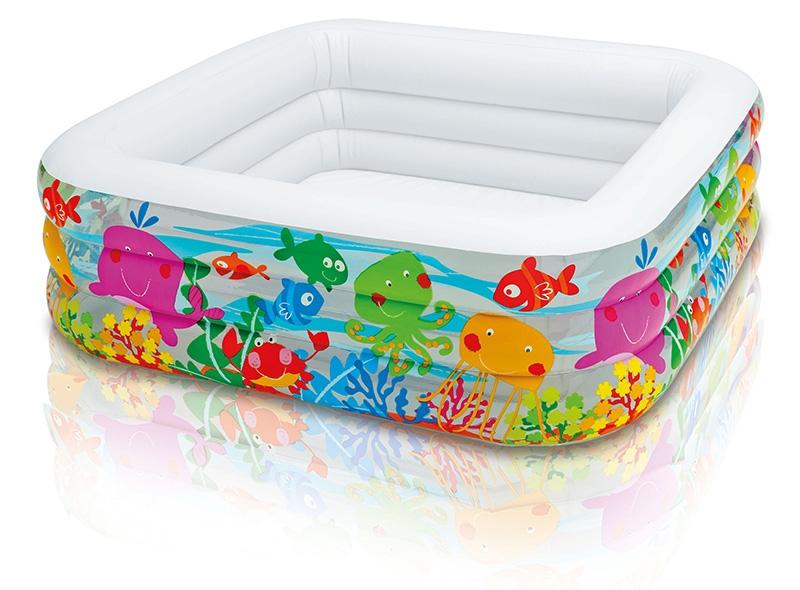 Nafukovací bazén akvárium, 159x159x50 cm