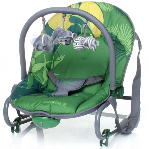 4 BABY Lehátko Jungle - zelené