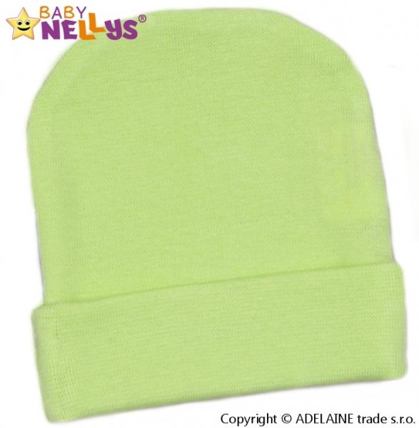 Baby Nellys Novorozenecká čepička  - zelená, vel. 68