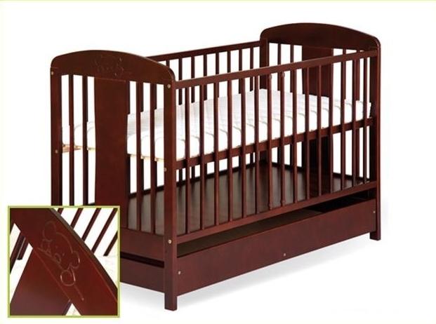 KLUPS Dětská postel Radek VIII s motívem medvídka + šuplík