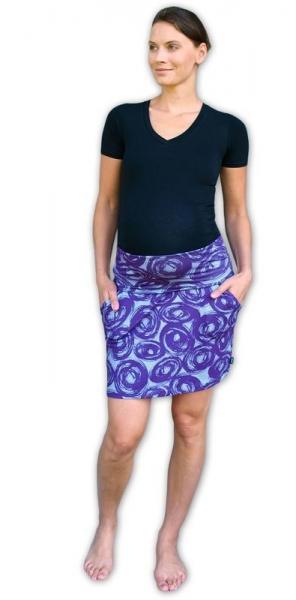 JOŽÁNEK Letní těhotenská sukně s kapsami - vzor č. 01 - L/XL