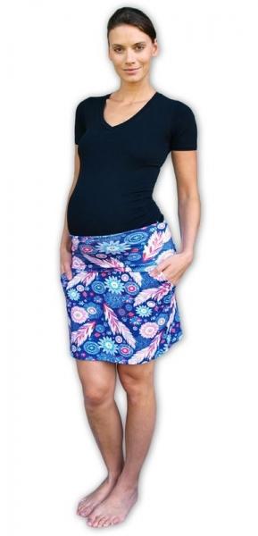 96e0717b8a00 JOŽÁNEK Letní těhotenská sukně s kapsami - vzor č. 02