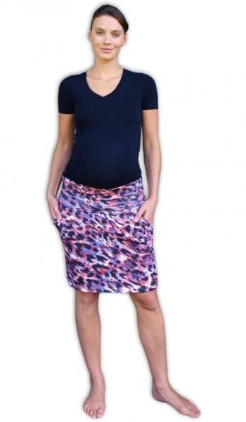 Letní těhotenská sukně s kapsami - vzor č. 05