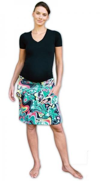 JOŽÁNEK Letní těhotenská sukně s kapsami - vzor č. 06 - L/XL