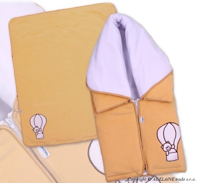 Multifunkční deka 3v1 Medvídek - broskev, béžově hnědý