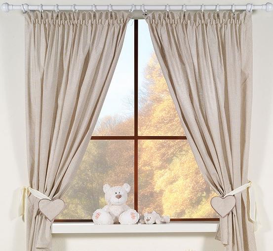 Krásné závěsy do pokojíčku - Snílek hnědý