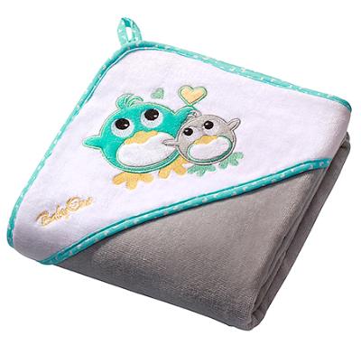 BabyOno Luxusní osuška Baby Ono - VELUR s kapucí