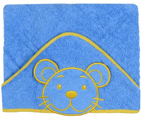 Luxusní osuška Baby Ono - HAPPY s kapucí - barva: Modrá, velikost: 76x76cm, kat.: 169/01, BO