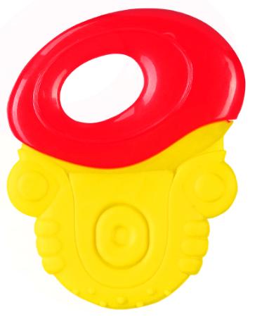 BabyOno Chrastítko, kousátko - úchyt červený