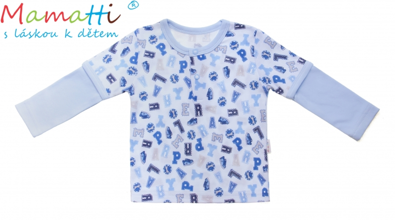 Bavlněné tričko/polo Mamatti - FOTBAL, Velikost: 86 (12-18m)