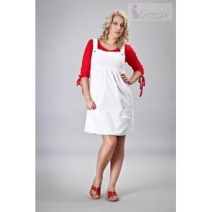 Elegantní šaty - bílá, Velikost: XS/S