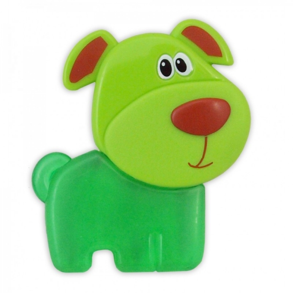 BABY MIX Kousátko gelové - Pejsek zelený