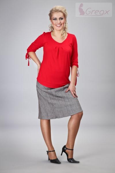 Gregx Těhotenská sukně ELVIA - béžová s odstínem stříbr. nitky