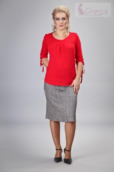 Těhotenská sukně ELVIA - béžová s odstínem stříbr. nitky, Velikost: XL