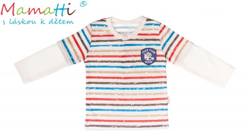 Bavlněné tričko/polo Mamatti -PEJSEK, Velikost: 80 (9-12m)