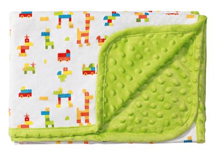 Luxusní oboustranná dečka Baby Ono - MINKY zelená - Barva: Zelená minky, nr.: 1410/01, BO