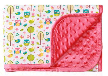 Luxusní oboustranná dečka Baby Ono - MINKY růžová - Barva: Růžová minky, nr.: 1410/03, BO
