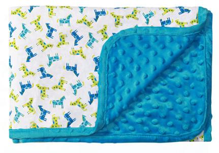 Luxusní oboustranná dečka Baby Ono - MINKY modrá - Barva: Modrá minky, nr.: 1410/04, BO
