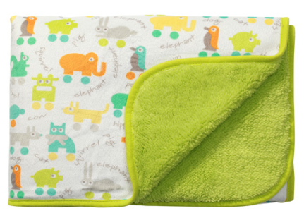 Oboustranná dečka z mikrovlákna Baby Ono - zelená