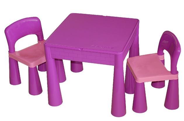Tega Baby TEGA Sada nábytku pro děti - stoleček a 2 židličky - fialová