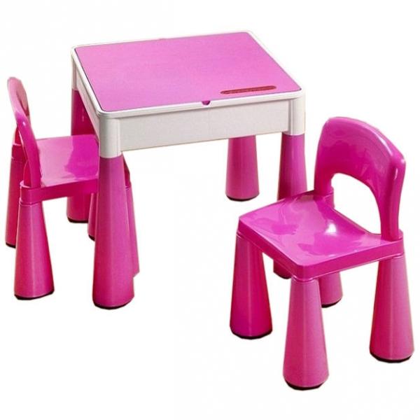 Tega Baby TEGA Sada nábytku pro děti - stoleček a 2 židličky - růžová