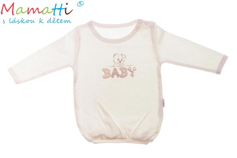 Bavlněné tričko Mamatti -BABY, Velikost: 80 (9-12m)