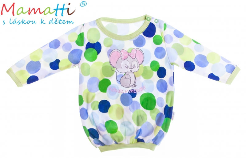 Bavlněné tričko Mamatti -Myška Puntík, Velikost: 92 (18-24m)