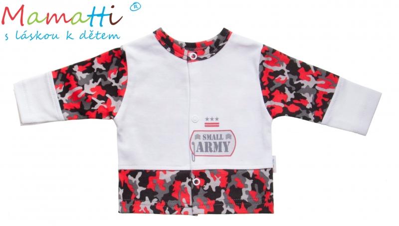 Bavlněná košilka Mamatti - ARMY, Velikost: 80 (9-12m)