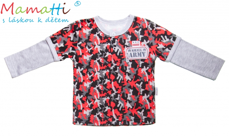 Bavlněné tričko/polo Mamatti - ARMY, Velikost: 92 (18-24m)