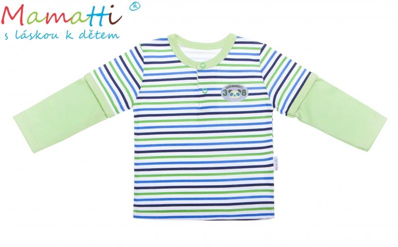 Bavlněné tričko/polo Mamatti -ŽELVA, Velikost: 74 (6-9m)
