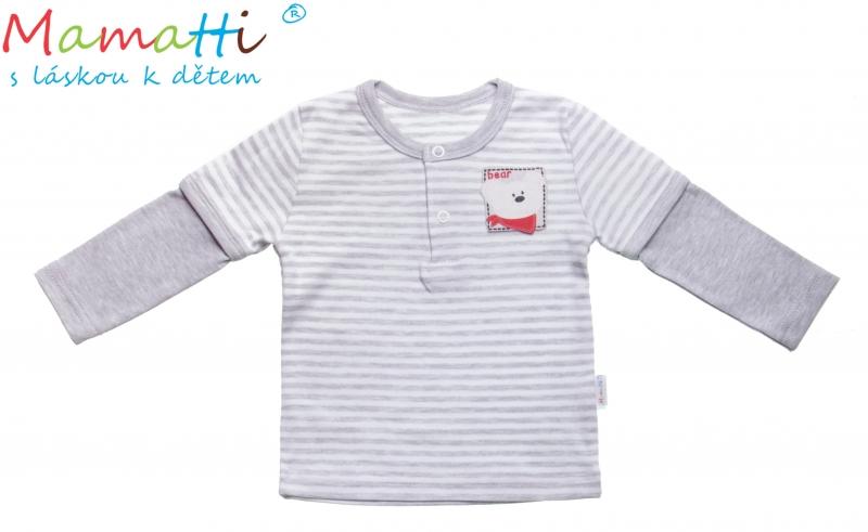 Bavlněné tričko/polo Mamatti - LEMUR, Velikost: 74 (6-9m)