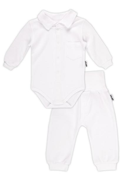 Soupravička NICOL ELEGANT BABY BOY - body polo dl. rukáv a polodupačky - 74 (6-9m)