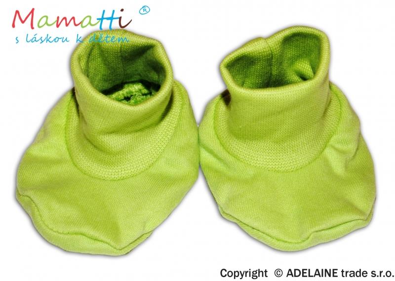 Botičky/ponožtičky BAVLNA Mamatti - zelené