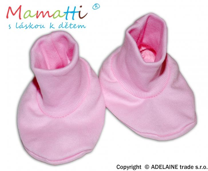 Botičky/ponožtičky BAVLNA Mamatti - růžové