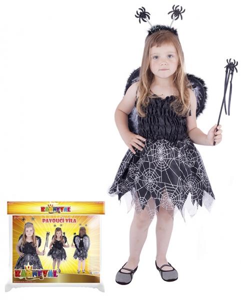 Karnevalový kostým pavoučí víla, vel. S
