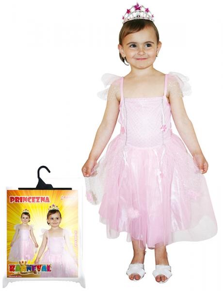Karnevalový kostým princezna růžová, vel. S