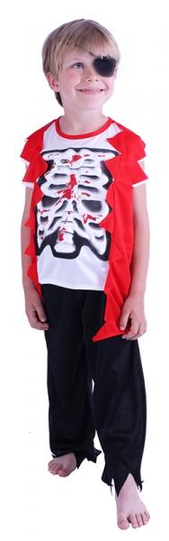 Karnevalový kostým pirát Skeleton, vel. S - Kostým pirát Skeleton, vel. S - 1 ks