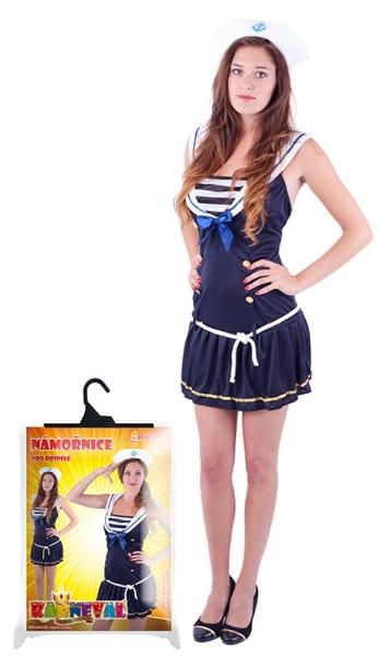 Karnevalový kostým slečna námořnice, dospělá, vel. M - Kostým slečna námořnice, dospělá, vel. M